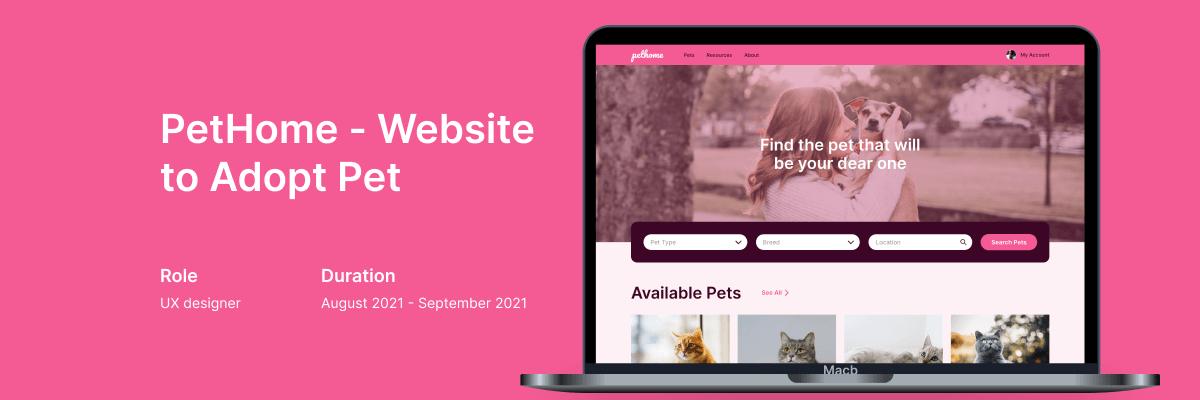 PetHome - Website to Adopt a Pet